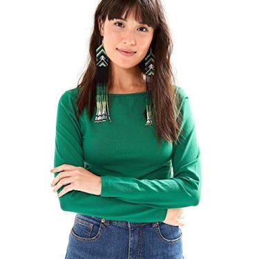 99827e0e4d Blusa Cropped Manga Longa Verde Espinho - P