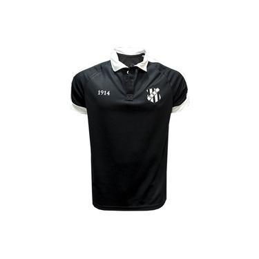 Camisa Masculina Ceará Esporte Clube Polo Preta Gola Branca Exclusiva Vozão