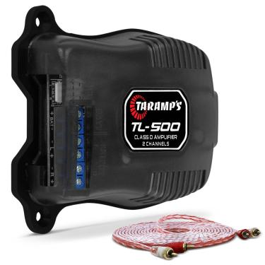 Módulo Amplificador Taramps TL500 100W RMS 2 Canais 2 Ohms Classe D + Cabo RCA Stetsom 5M 2mm²