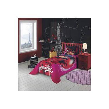 7b18ecf1d5 Jogo de Cama Infantil Ladybug 2 Peças Algodão Lepper Rosa Vermelho