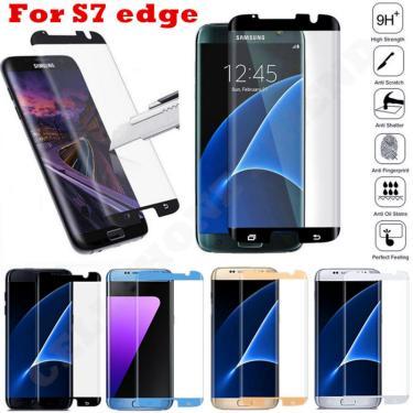 Jgkk capa protetora de tela, película de vidro temperado para samsung galaxy s7 edge e samsung s7