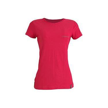 Camiseta Dry Cool Lady Feminina com Proteção Solar 50 Vermelha Manga Curta - Conquista