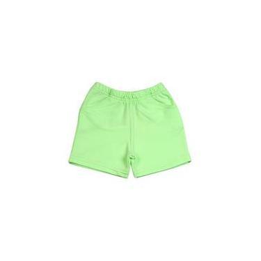 Shorts Bebê Malha Sarja Menina - Verde