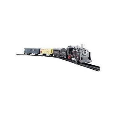 Imagem de Ferrorama Trem A Pilhas Máquina Locomotiva Pista Som E Luz