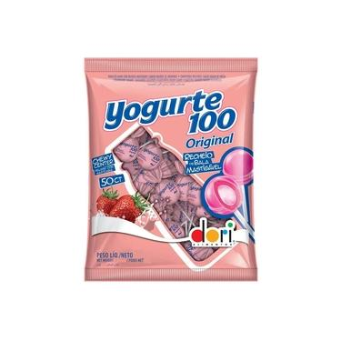 Pirulito Recheio Mastigável Yogurte 100 c/50un - Dori