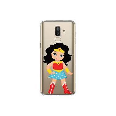 Capa para Galaxy J8 - Mulher Maravilha | Cute