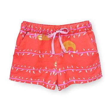 Short Infantil Pandi Preguicinha Cor:Vermelho;Tamanho:2A;Gênero:Menina