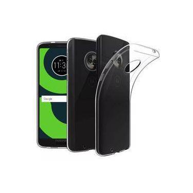 0cf4b9d735 Capa transparente flexível para Motorola Moto G6 Plus + película de vidro