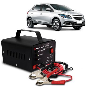 Carregador Bateria Automotivo Para Carro Shutt Bivolt 12V 5A 60W Com Led Indicador Auxiliar Partida