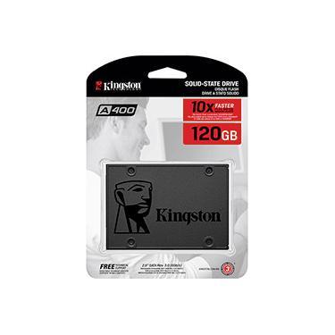 SSD Kingston A400 120GB - 500mb/s para Leitura e 320mb/s para Gravação - Sa400s37