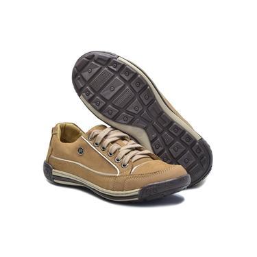 Sapato Masculino de Couro Palmilha de Gel 114/01 Palha