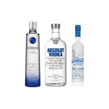 Kit Vodka( Ciroc 750 Ml + Grey Goose 750 Ml + Absolut 750ml)
