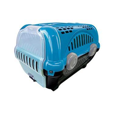 Caixa de Transporte de Luxo para Cães Furacão Pet Azul, Tamanho 1