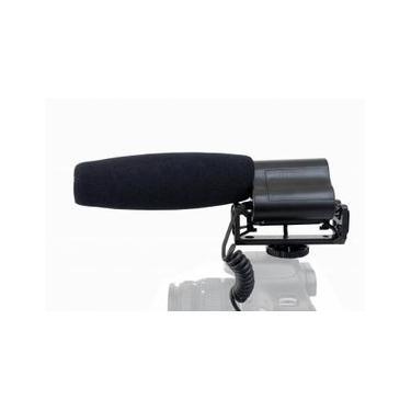 Microfone Shotgun Boya BY-VM02 Condensador Unidirecional para Câmeras e Filmadoras
