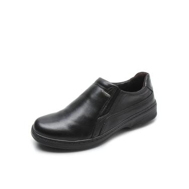 Sapato Social Couro Pegada Liso Preto Pegada 21206-1 masculino