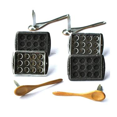 (Baking) - Eyelet Outlet Shape Brads 12/Pkg