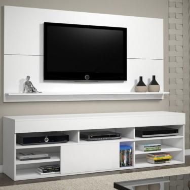 Rack com Painel para TV até 55 Polegadas Twin Espresso Móveis Branco