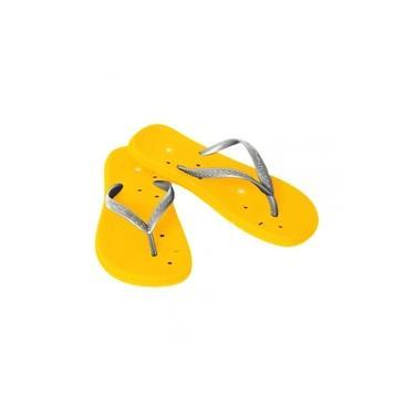 Sandalia Feminino Magnetica Prata/Amarelo 38-39