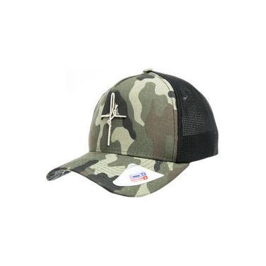 Boné Classic Hats Fé Unissex Feminino Masculino Tela Trucker Verde Bege Bordado 3d