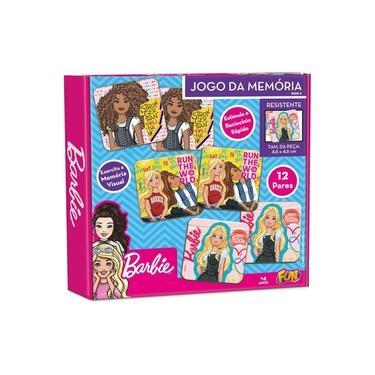Imagem de Barbie Jogo Da Memoria 12 Pares (24 Pcs) Cartonado - Fun