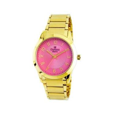 a9acc1a283c Relógio Feminino Analógico Champion CN25109L - Rosa Dourado