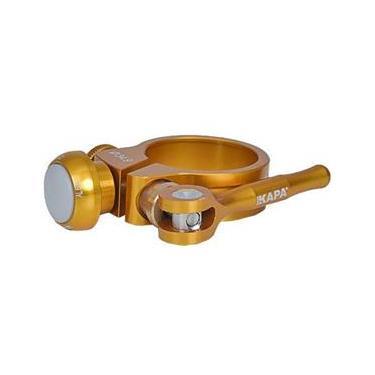 Abraçadeira Selim 34,9mm Titânio LED Dourada - Kapa Bikes
