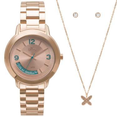 4b800759f09 Kit Relógio Feminino Allora Serena AL2315AJ K4T - Rose