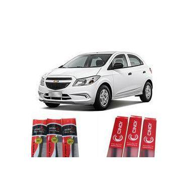Kit Par Palheta Silicone Limpador Parabrisa Dianteiro Gm Chevrolet Onix / Prisma 2013 - 2016