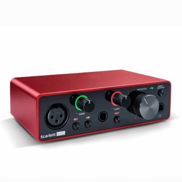 Placa de som Focusrite Scarlett Solo (3ª geração) Interface de áudio USB 24 bits / 192KHZ Placa de som Ad-Converter para Banggood