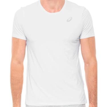 Camiseta Asics Core Running Pa Masculina MRB4324-01, Cor: Branco, Tamanho: 3G