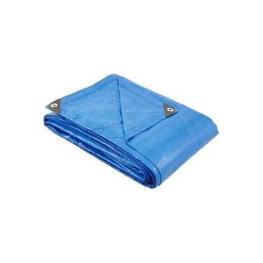 Lona polietileno 6x4m azul 150 micras média - Vonder