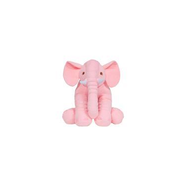 Imagem de Pelúcia Buba Almofada Elefante Gigante Rosa 60cm - 7562
