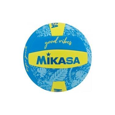 Bola Volei Good Vibes Mikasa Volleyball Praia Amarela E Azul