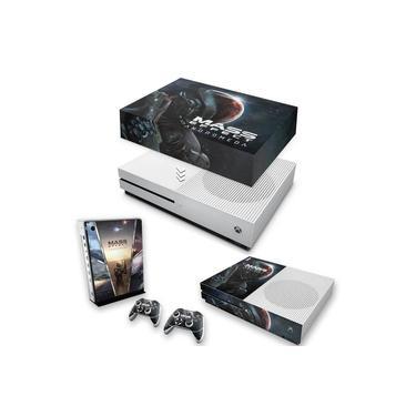 Capa Anti Poeira e Skin para Xbox One S Slim - Mass Effect: Andromeda