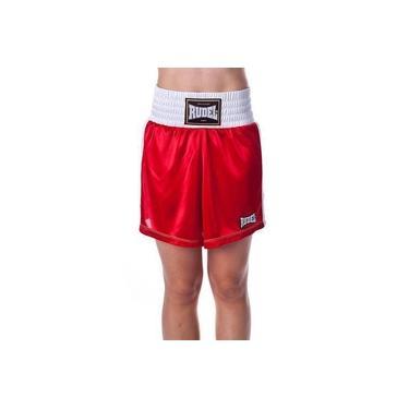 Shorts Bermuda Calção Para Luta Boxe Classic Rudel Feminino
