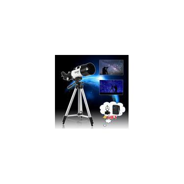 Imagem de Telescópio astronômico refletor profissional de 400 mm x 70 mm + tripé ajustável