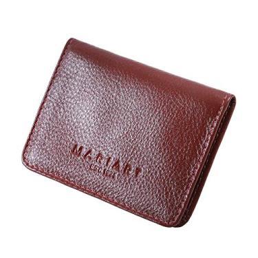 Carteira Mini Couro Legítimo Porta Cartão Cnh Masculina 154 (Vermelho)