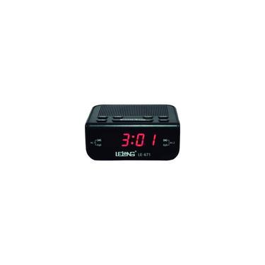 Imagem de Relógio despertador digital elétrico de mesa rádio Am/Fm Le 671