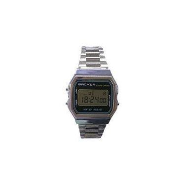 ed8a8ab2450 Relógio Masculino Backer Digital 15001453F - Prata