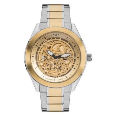 4f7d6c781cc Relógio Masculino Technos Automático 8N24AJ 4X Prata Dourado