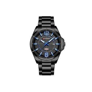 f0ab0c55dc2 Relógio Masculino Curren Analógico 8271 Preto E Azul