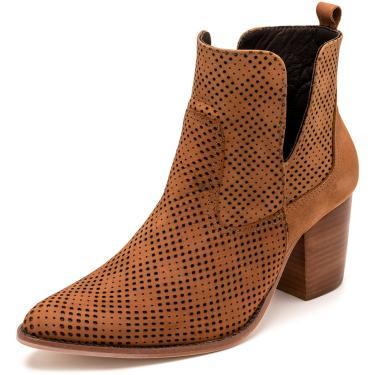 Bota Sandalo Feminina Clave De Fa Lee Castanho  feminino
