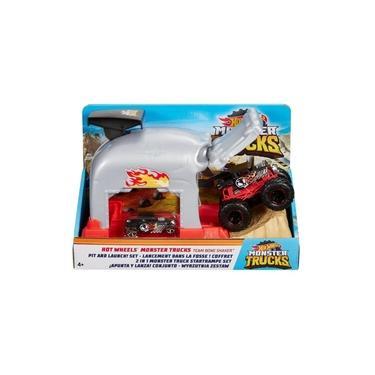 Imagem de Hot Wheels Monster Truck Lançador Extremo Bone Shaker Mattel