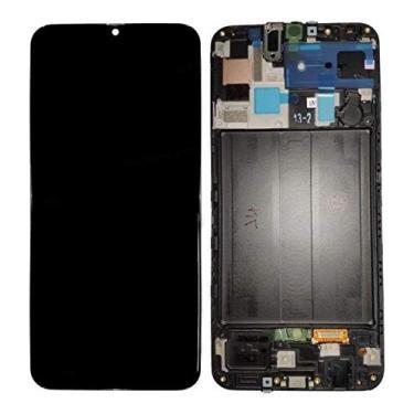 Tela Frontal E Display Samsung A50 A505 Chinês Incell Preto Com Aro