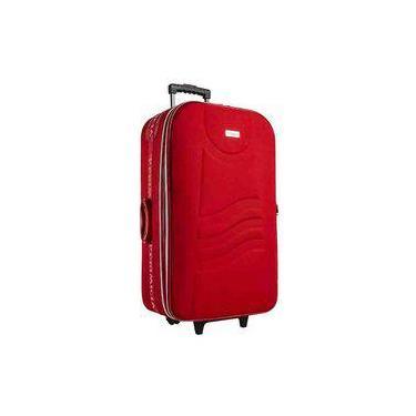 Mala De Viagem Pequena Primicia 91756-2vm, Poliéster, Rodinhas - Vermelho