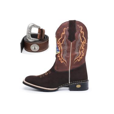Bota Click Calçados Texana Country Nossa Senhora Aparecida Com Cinto  masculino