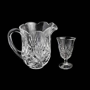 Conjunto de Jarra com 6 Taças, Lyor, Dublin, Transparente, 1.3L/220 ml