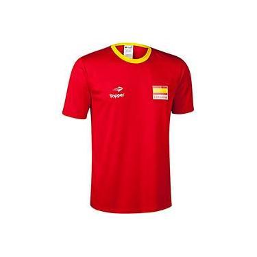 d8dcaa04b6 Camisa Topper Torcida Espanha Masculino P   M   G   GG