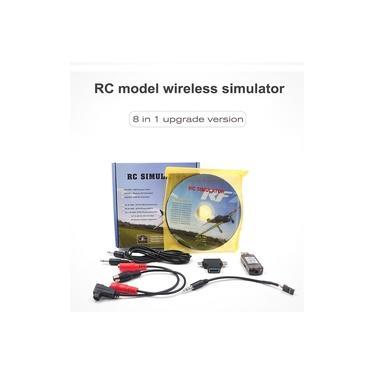 STARTRC 8-em-1 RC simulador de vôo sem fio simulador para Flysky i6x FUTABA AT9s Radiolink AT10