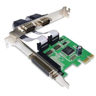 Placa PCI-e com 2 Portas Seriais e 1 Paralela